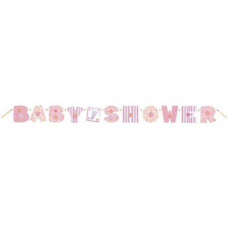 Festone Baby Shower Baby Pink