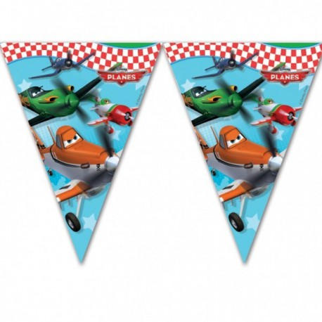 Planes Plastic Flags Banner