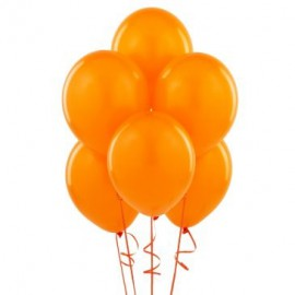 Orange latex balloons 10pc
