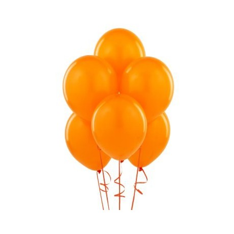 Orange latex balloons 15pc