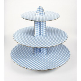 Gingham Blue Cupcake Stand