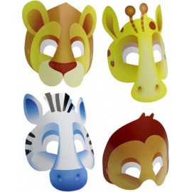 Jungle Animals Assorted Masks
