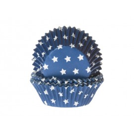 Stars Blue Baking Cups