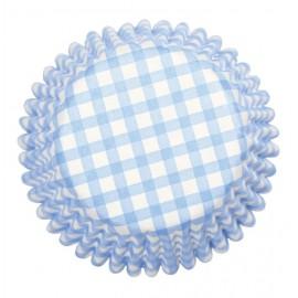 Pirottini Cupcake Quadretti Azzurro