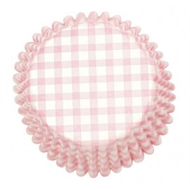 Pink Gingham Cupcake Baking Cups