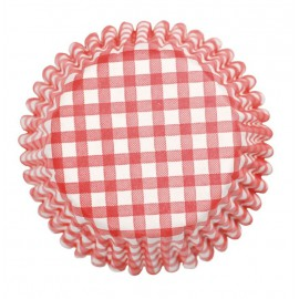 Red Gingham Cupcake Baking Cups
