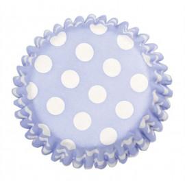 Pirottini Cupcake Azzurro pois bianco