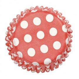 Pirottini Cupcake Rosso pois bianco
