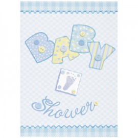 Inviti Baby Shower Baby Blue