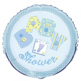 Pallone Foil Baby Shower Baby Blue