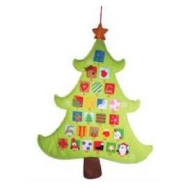 Calendario dell'Avvento Albero Natale in feltro