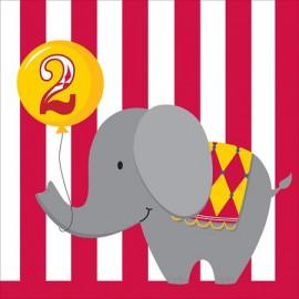 Tovaglioli 2 Anni Circus Time