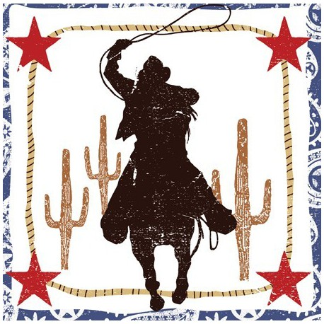 Cowboy Lunch Napkins