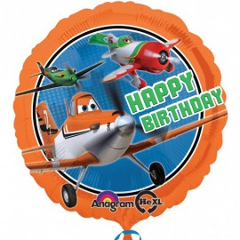 Palloncino Foil Happy Birthday Planes