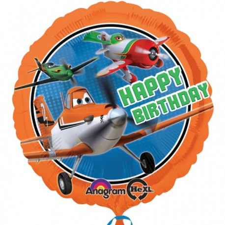 Happy Birthday Planes Foil Balloon