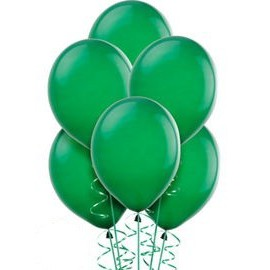 Green Latex Balloons 10pc