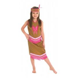 Costume bambina da Indiana 5-6 anni