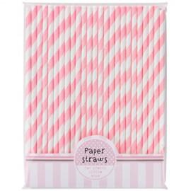 Cannucce righe rosa e bianco