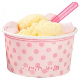 Coppette per gelato con cucchiai