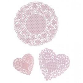 Decorazione in pizzo Pink n' Mix