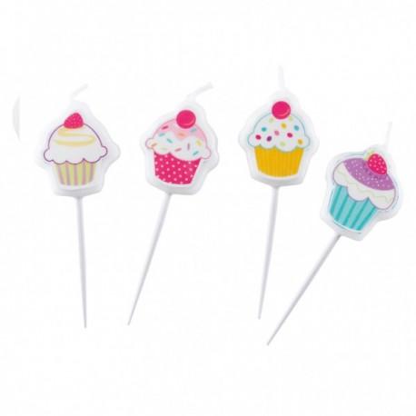 Mini Candele Cupcake 4pz