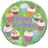 Palloncino Happy Birthday Copcake Party
