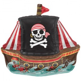 Pirate Ship Air Filled Foil Balloon