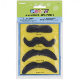 Mustaches Favors Set 4pc