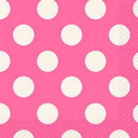 Bright Pink Dots Beverage Napkins