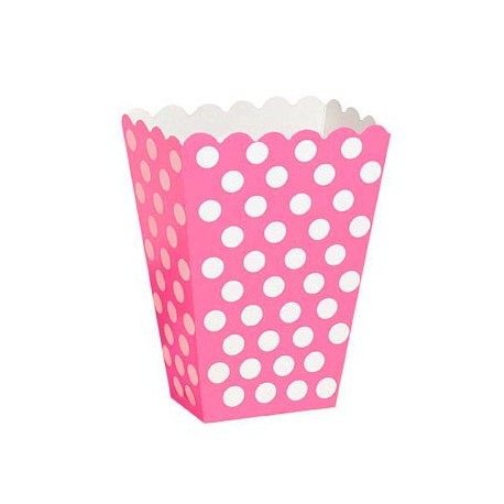 Bright Pink Dots Treat Boxes