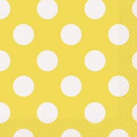 Yellow Dots Beverage Napkins