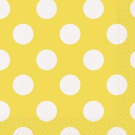 Yellow Dots Beverage Napkins