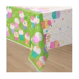 Cupcake Party Plastic Tablecover