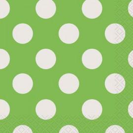 Lime Green Dots Beverage Napkins
