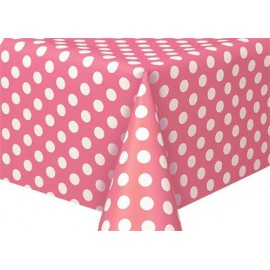 Bright Pink Dots Plastic Tablecover