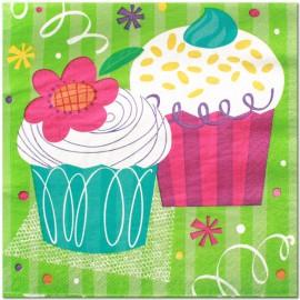 Tovaglioli Cupcake Party 33x33cm 16pz