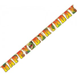 Dino Blast Happy Birthday Banner