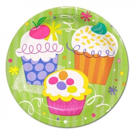Piattini Cupcake Party 18cm 8pz