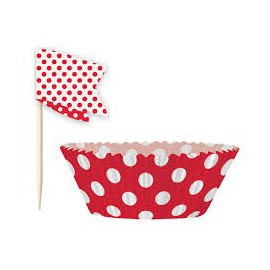 Cupcakes Baking Cups Red Dots