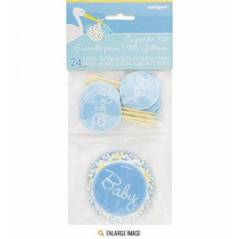 Kit Decorazione Cupcakes Baby Shower Boy
