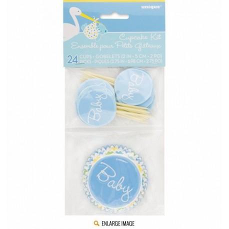 Baby Shower Boy Cupcake Kit