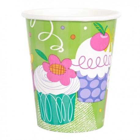 Bicchieri Cupcake Party 266ml 8pz