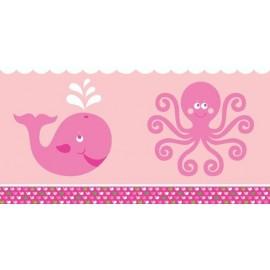 Tovaglia plastica Oceano Rosa