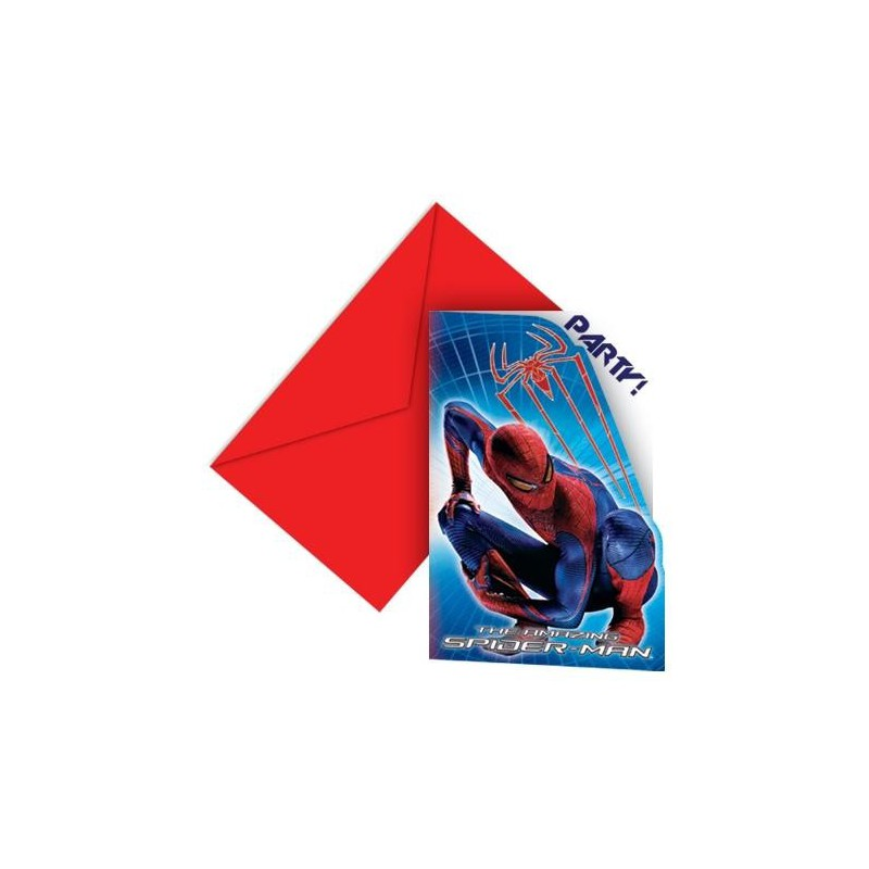 kids party supplies spiderman invitations
