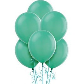 Teal Latex Balloons 10pc