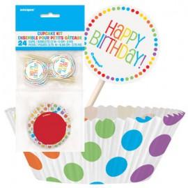 Kit Decorazione Cupcakes Pois