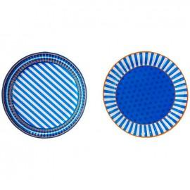 Blue Mix Plates