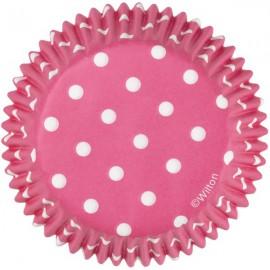 Pirottini Cupcakes Pois Fucsia