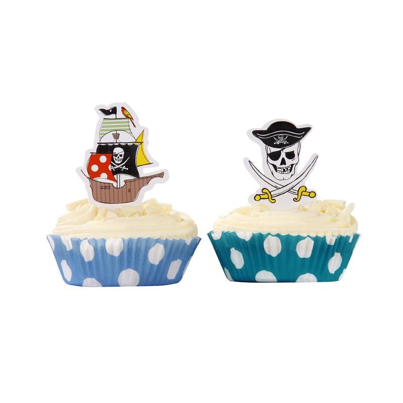 Kit decorazione cupcake pirata for Decorazione torte e cupcake