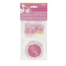 Baby Girl Cupcake Kit